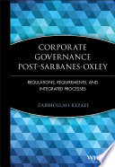 Corporate Governance Post Sarbanes Oxley