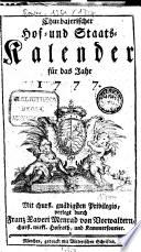 Churbajerischer Hof- und Staats-Calender