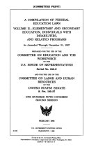 A Compilation of Federal Education Laws     as Amended Through December 1997