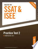 Master the SSAT ISEE  Practice Test 2