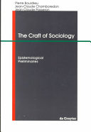 The Craft of Sociology