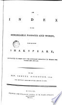 An Index To The Remarkable Passages And Words Made Use Of By Shakspeare [Pdf/ePub] eBook