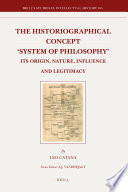 The Historiographical Concept  System of Philosophy