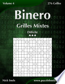 illustration Binero Grilles Mixtes - Difficile - Volume 4 - 276 Grilles