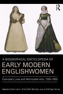 A Biographical Encyclopedia of Early Modern Englishwomen Book