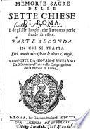 Memorie sacre delle sette chiese di Roma