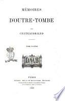 Mémoires d'outre-tombe par Chateaubriand