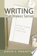 Writing That Makes Sense