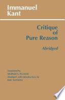 Critique of Pure Reason  abridged