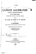 Book Cours de langue allemande d'apres la methode Robertson