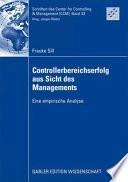 Controllerbereichserfolg aus Sicht des Managements