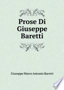 Prose Di Giuseppe Baretti