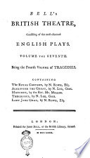 Bell s British Theatre  Consisting of the Most Esteemed English Plays  Volume the First    Twenty first