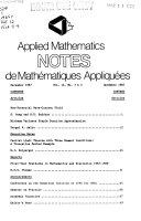 Notes de Math  matiques Appliqu  es