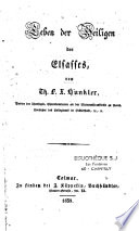 Leben der Heiligen des Elsasses