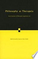 Philosophy as Therapeia: