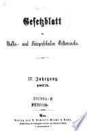 Gesetzblatt für Volks- und Bürgerschulen Oesterreichs