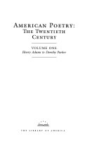 American Poetry  Henry Adams to Dorothy Parker