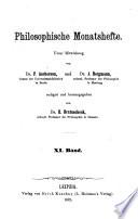 Philosophische Monatshefte