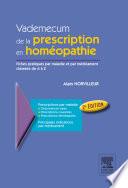 La Prescription Homeopathique par Alain Horvilleur