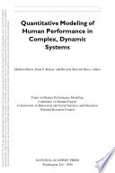 Quantitative Modeling Of Human Performance In Complex Dynamic Systems
