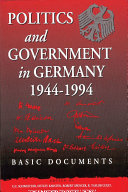 Politics and Government in Germany, 1944-1994