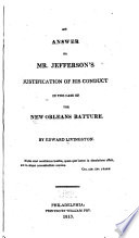 Address to the People of the United States  on the Measures Pursued by the Executive with Respect to the Batture at New Orleans