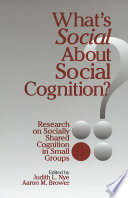 What s Social about Social Cognition