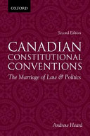 Canadian Constitutional Conventions book