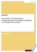 Preispolitik. Untersuchung der Preisgestaltung und Preispolitik am Beispiel von Planspielunternehmen