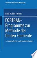FORTRAN Programme zur Methode der finiten Elemente