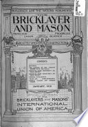 The Bricklayer  Mason and Plasterer