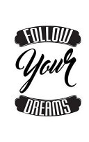 Follow Your Dreams  Graph Notebook small Journal  64p  5x8