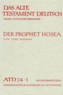 Das Buch der zwölf Kleinen Propheten I