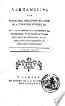 Verzameling van placaaten, resolutien en andere authentyke stukken enz