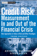 download ebook credit risk management in and out of the financial crisis pdf epub