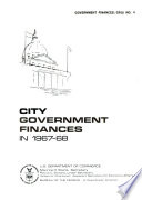 City Government Finances in