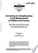 Correcting for Sampling Bias in the Measurement of Welfare and Poverty