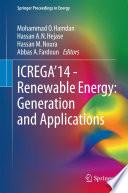 Icrega 14 Renewable Energy Generation And Applications
