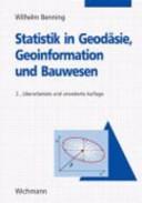 Statistik in Geodäsie, Geoinformation und Bauwesen