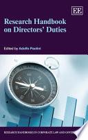 Research Handbook on Directors    Duties