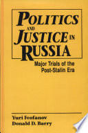 Politics and Justice in Russia