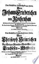 Geschlechtsregister der Reichsfrey unmittelbaren Ritterschaft Landes zu Franken Löblichen Orts Baunach