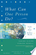 What Can One Person Do? By Intractable Issues Of Poverty