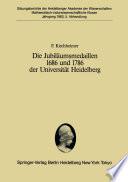 Die Jubiläumsmedaillen 1686 und 1786 der Universität Heidelberg
