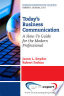 Today s Business Communication