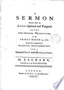 A Sermon Preached Before the Lords
