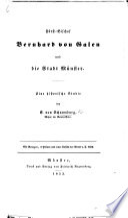 Fürst-Bischof Bernhard von Galen und die Stadt Münster. Eine historische Studie