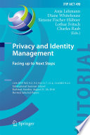 Privacy And Identity Management Facing Up To Next Steps