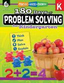 180 Days of Problem Solving for Kindergarten  Grade K